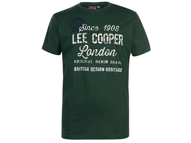Lee Cooper Vintage férfi póló - Zöld - 59059616 - XL
