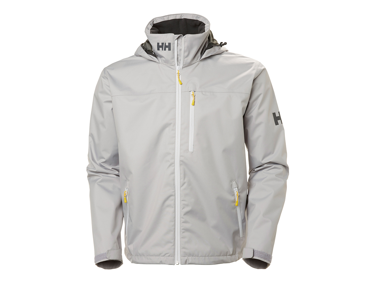 Helly Hansen CREW HOODED JACKET SILVER GREY XL (33875_820-XL)