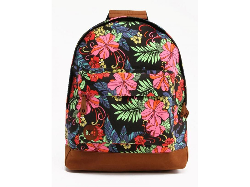 Mi-Pac Tropical Floral Neon Black