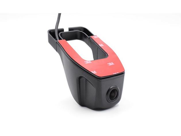 Visszapillantó tükörre szerelhető autós kamera, kis méret mely nem zavar a kilátásban, wifi kapcsolattal