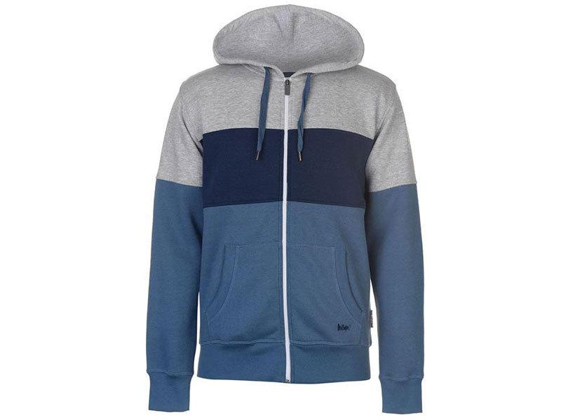 Lee Cooper Contrasting férfi pulóver - kék/szürke/sötétkék - 53232018 - L