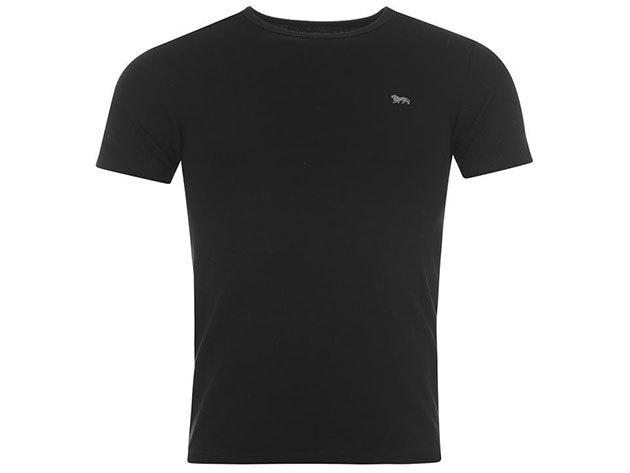 Lonsdale férfi T-shirt - 42706203  fekete póló - L