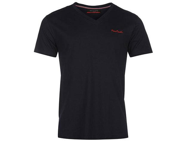 Pierre Cardin V-nyakú férfi póló - 68400122 - sötétkék - L