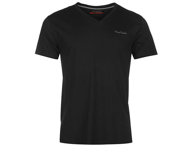 Pierre Cardin V-nyakú férfi póló - 68400103 - fekete - L
