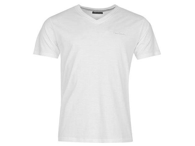 Pierre Cardin V-nyakú férfi póló - 68400101 - fehér - L