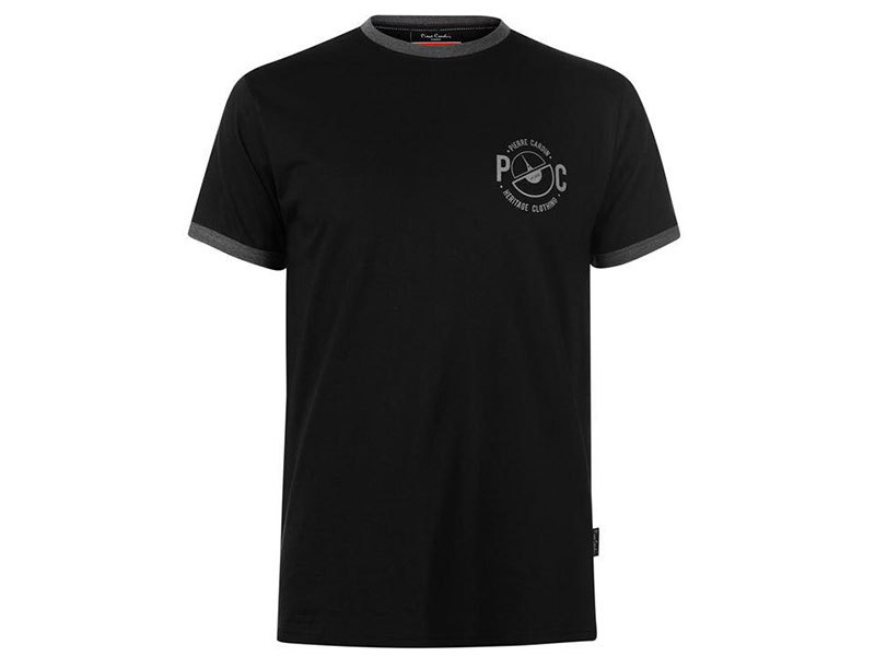 Pierre Cardin Ringer férfi póló - 59971503 - fekete - L