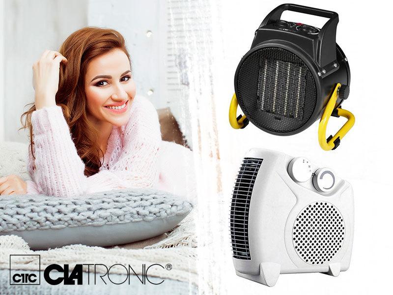 Clatronic HL3379 meleg levegős fűtőkészülék és HL3651 kerámiás hősugárzó - kellemes meleg gyorsan és biztonságosan a hideg napokon