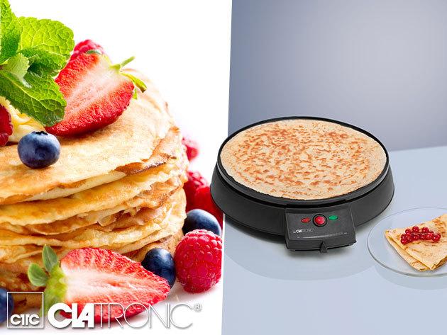 Clatronic elektromos palacsintasütő (CM3372), 29 cm, 900W / Gyerekjáték lesz kedvenc desszerted elkészítése!