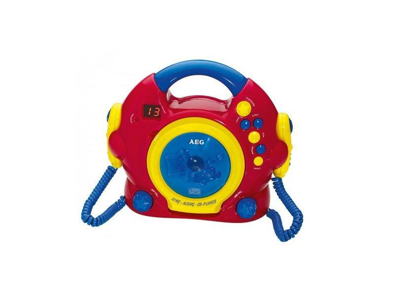 AEG CDK4229 karaoke cd lejátszó - KIDS LINE, mikrofonnal, elemes