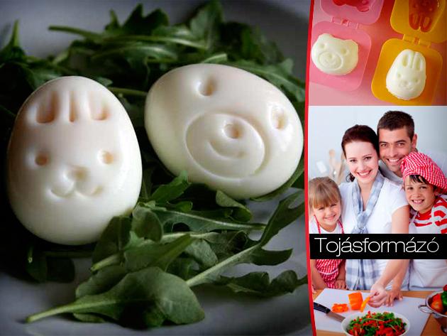Tojásformázó készlet: nyuszi, maci, halacska, kisautó - eljött az örömteli főtt tojásos reggelik ideje! Nem csak húsvétra!