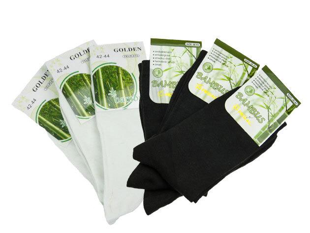 Férfi bambusz pamut zokni 40-43 méret (6 pár / csomag)