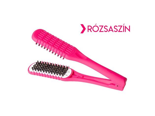 Hajvasaló kefe hajszárításhoz - rózsaszín
