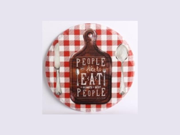 VINTAGE LÁBOSALÁTÉT PEOPLE EAT  20cm - 147442