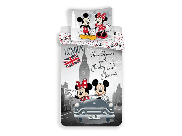 Minnie és Mickey Londonban JF-MM-L-C / 140x200 cm, 70x90 cm, 100% pamut