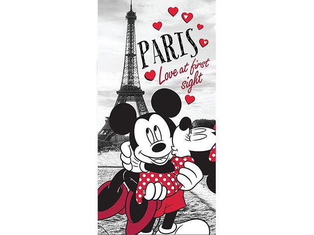 Minnie és Mickey Párizsban ágynemű JF-MM-P-B / 140x200 cm, 70x90 cm, 100% pamut