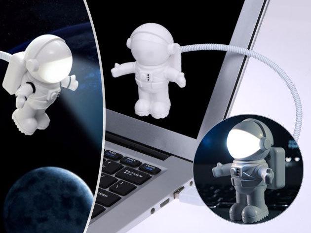 Űrhajós  led lámpa USB csatlakozóval, flexibilis szárral menő kiegészítő az asztalodra