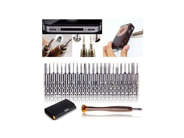 25 részes csavarhúzókészlet elektronikai eszközökhöz