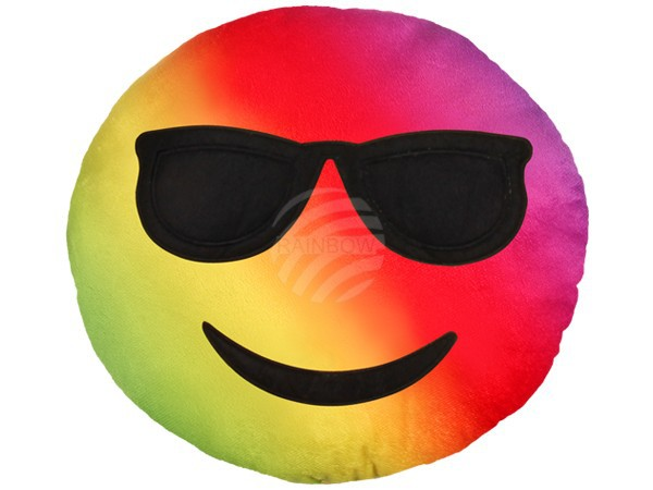 Szivárványos napszemüveges emoji párna RS-KI-04