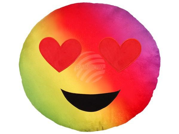 Szivárványos szerelmes emoji párna RS-KI-06