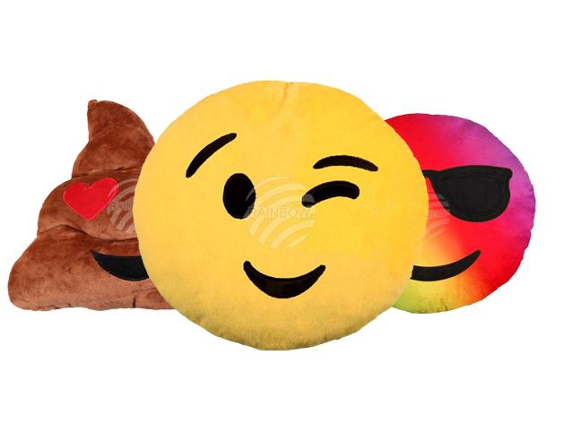Emoji párnák - extra puha tapintású, kb. 25 cm átmérőjű mókás díszpárnák, melyekkel bárkinek örömet szerezhetsz