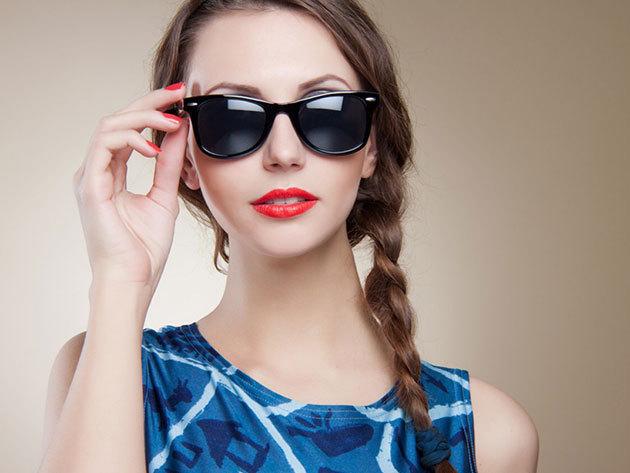 Dioptriás napszemüveg normál egyfókuszú lencsével