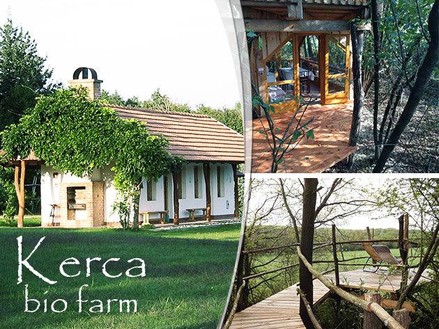 Kerca Bio Farm, szállás az Őrségben hangulatos lombházában vagy parasztházban / 2 vagy 3 éjszaka 2 fő részére, reggelivel