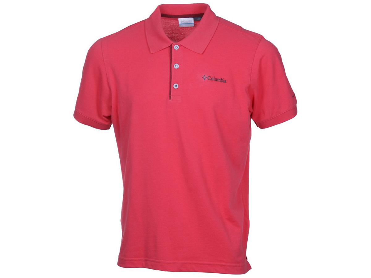 Cascade Range Solid Polo - 683-Sunset Red férfi pólóing 1713841-q - S