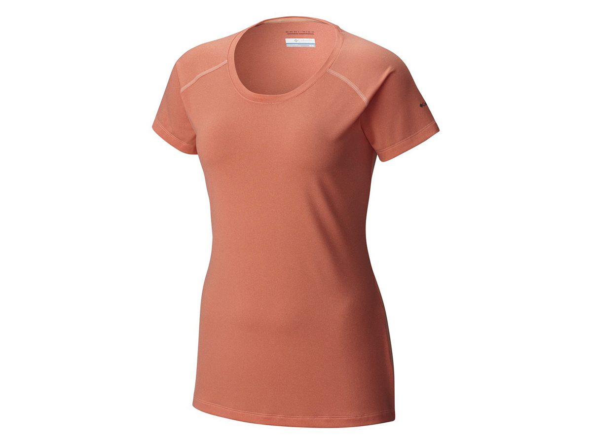 Columbia Tuk Mountain Womens Short Sleeve Shirt - női technikai T-shirt 867-Lychee 1655132-q - S/M