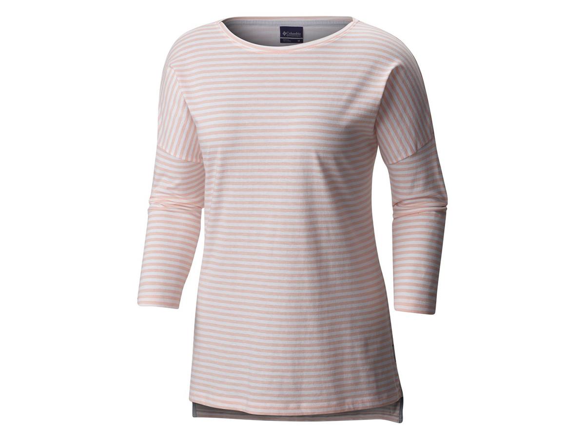Columbia Harborside 3/4 Sleeve Shirt - női T-shirt 884-Tiki Pink 1709561-q - S/M