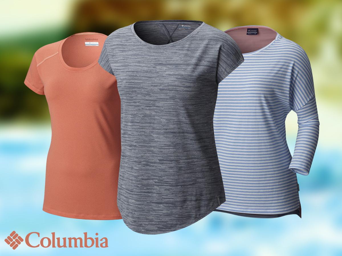 Columbia Harborside 3/4 Sleeve Shirt futáshoz, jógázáshoz, vitorlázáshoz vagy utcai használatra L méretben