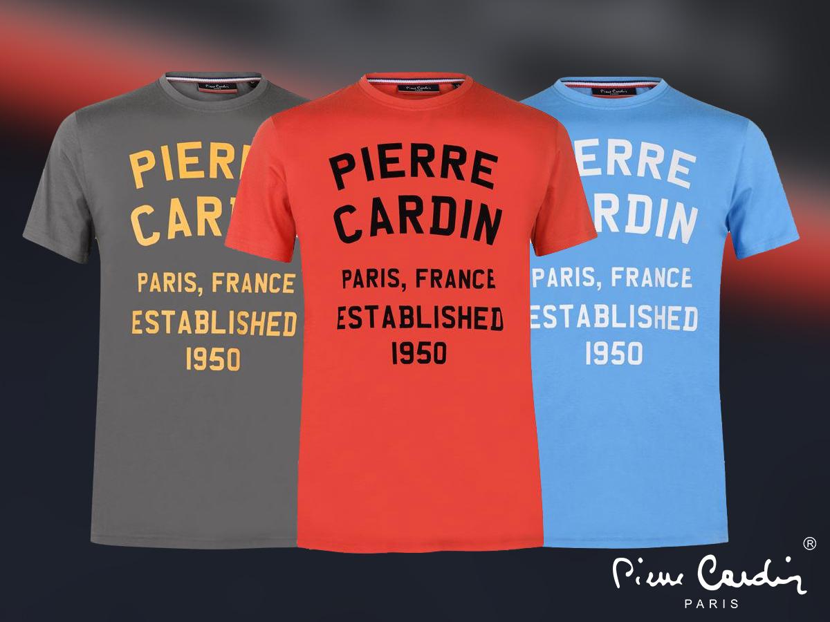 """Pierre Cardin LL férfi póló látványos grafikával, 100% pamut anyagból (S-XXL) - Légy """"feltűnően"""" divatos!"""