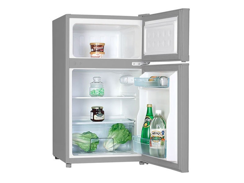 MPM AGD S.A. Hűtőszekrény inox 65l+25l fagyasztó Magassága 85cm