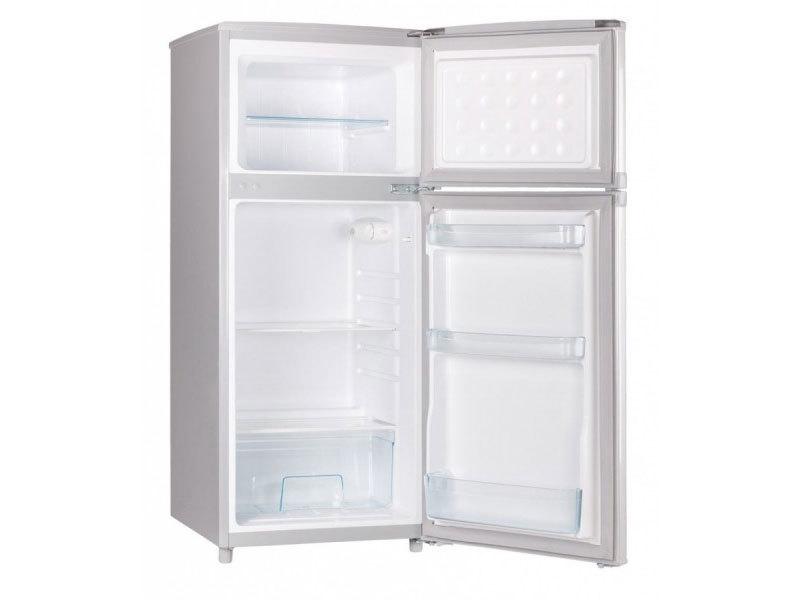 MPM AGD S.A. Hűtőszekrény inox 89l+30l fagyasztó Magassága 116cm