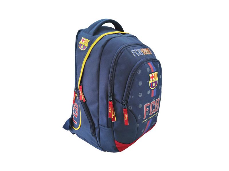 FC Barcelona lekerekített iskolatáska, hátizsák