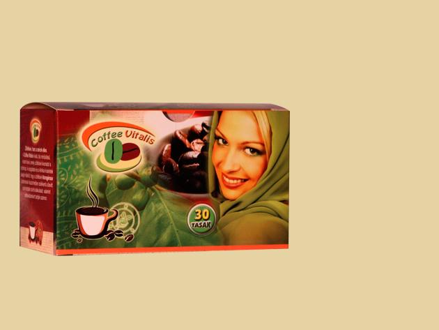 Coffee Vitalis Természetes instant kávé Zöldkávé kivonattal (30 tasak)