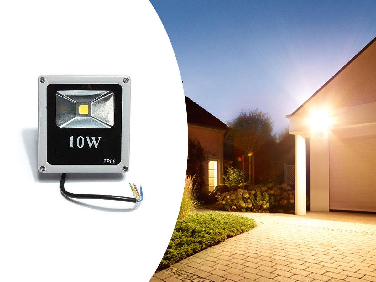 LED reflektor, 10w-os, kültéri használatra, épületek, kertek megvilágítására - Meggyőző fényerő, hosszú élettartam...