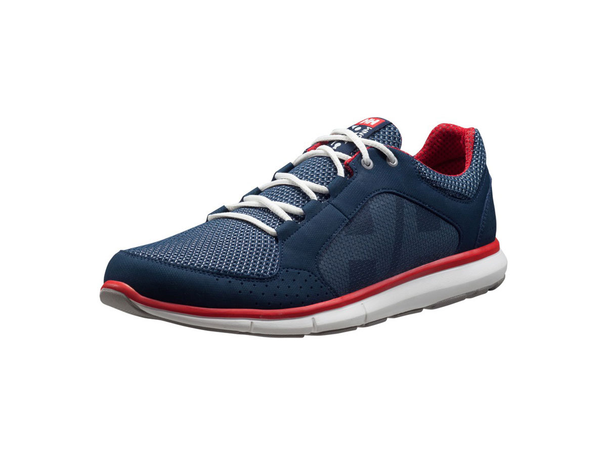 Helly Hansen AHIGA V3 HYDROPOWER NAVY / FLAG RED / OFF WHI EU 44.5/US 10.5 (11215_597-10.5)