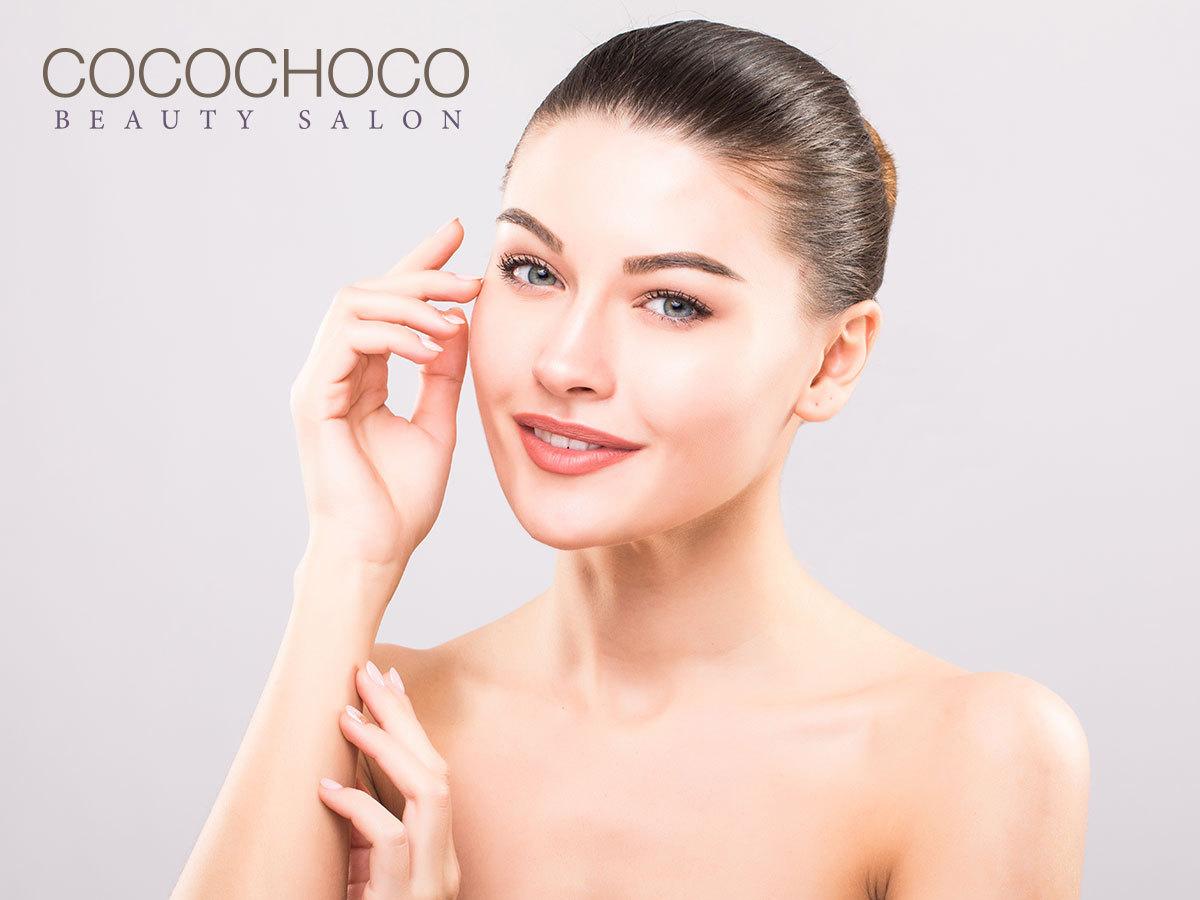 Ránctalanító kezelés LED maszkkal, arc-, nyak-, dekoltázs masszázs orvos kozmetikai hatóanyagokkal és hidroabrázióval