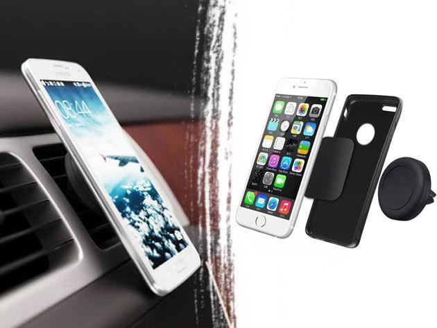 Autós mobiltelefon tartó és USB töltő szett / FEITUN - tárold jól látható helyen készüléked!