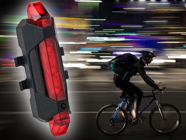 USB töltős kerékpár lámpa vízálló tokban, nagy fényerővel - Mert a biztonság az első!