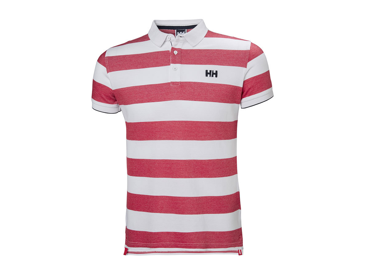 Helly Hansen MARSTRAND POLO FLAG RED STRIPE L (53022_110-L)
