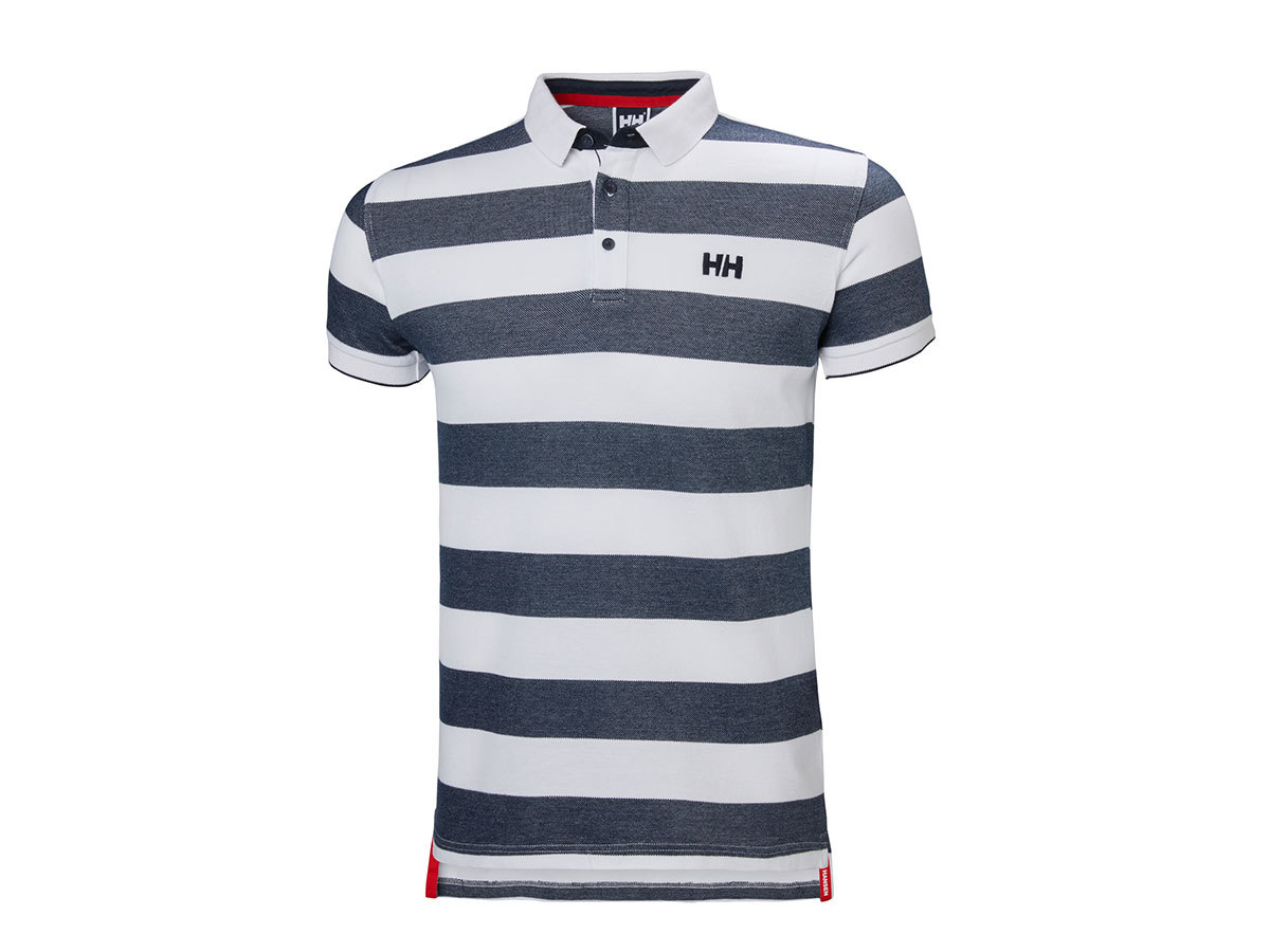 Helly Hansen MARSTRAND POLO NAVY STRIPE L (53022_598-L)