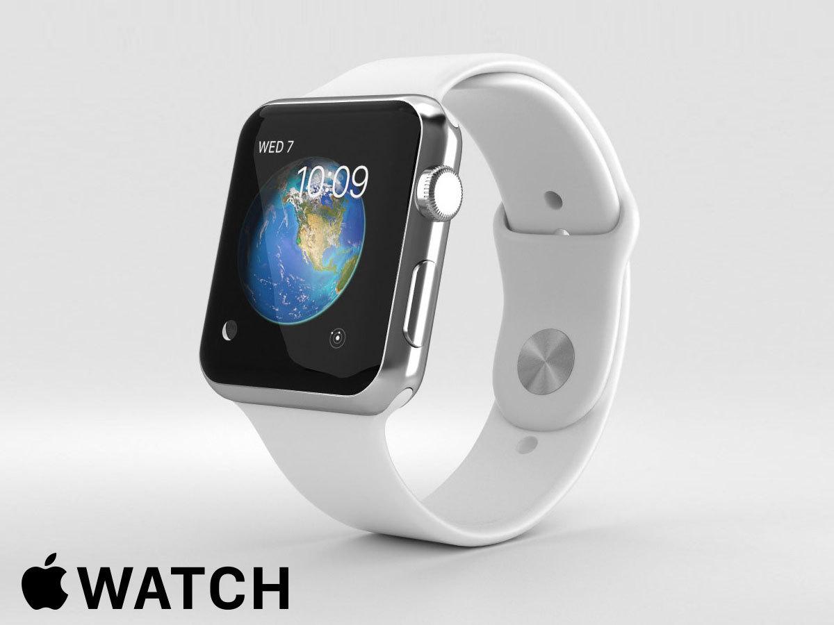 Apple Watch1 okosóra: ezüstszínű alumíniumtok, fehér 42 mm-es szíj, S1P kétmagos processzor, számos hasznos funkció