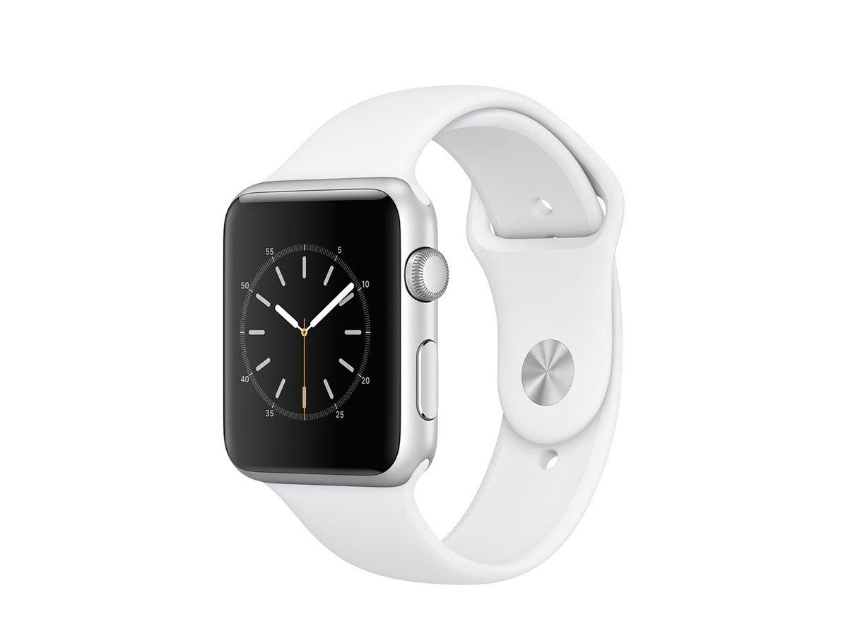 Apple Watch1 Ezüstszínű alumíniumtok fehér 42mm szíjjal