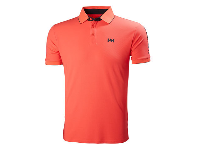 Helly Hansen HP RACING POLO - NEON CORAL - S (53012_247-S )
