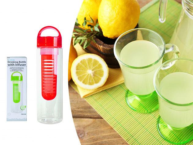 Infuser palack (700 ml) a gyümölcsös ízű frissítőkhöz - Hidratáld szervezeted egészséges üdítőkkel!