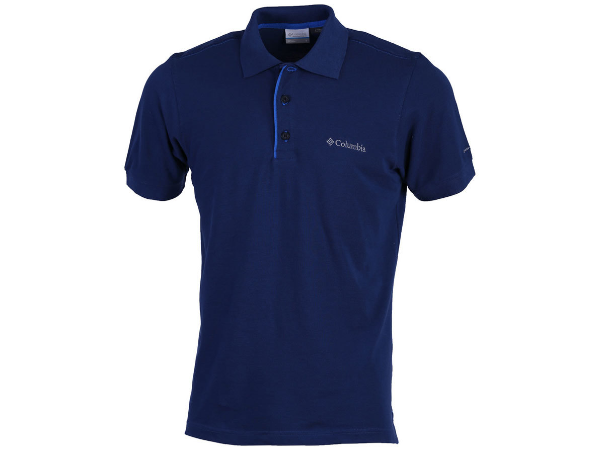Columbia Cascade Range Solid Polo - Carbon-Coll Navy 1713841-469-XL
