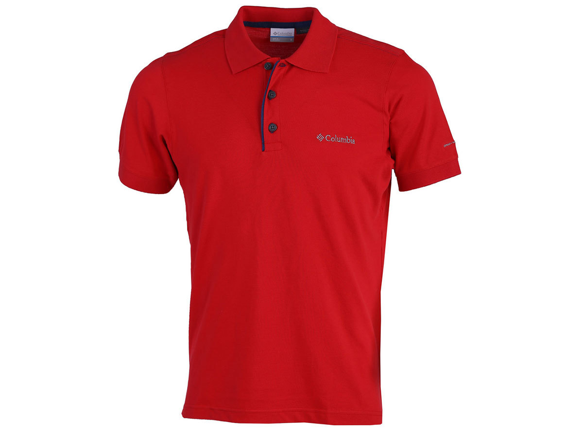 Columbia Cascade Range Solid Polo - Red Spark 1713841-696-L