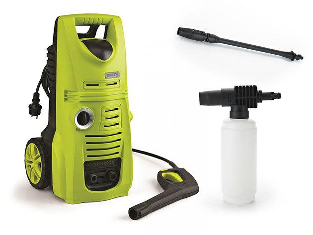 Camry magasnyomású tisztító 2200W-os teljesítménnyel, 3 szintes magas nyomású pumpával, profi habosítóval