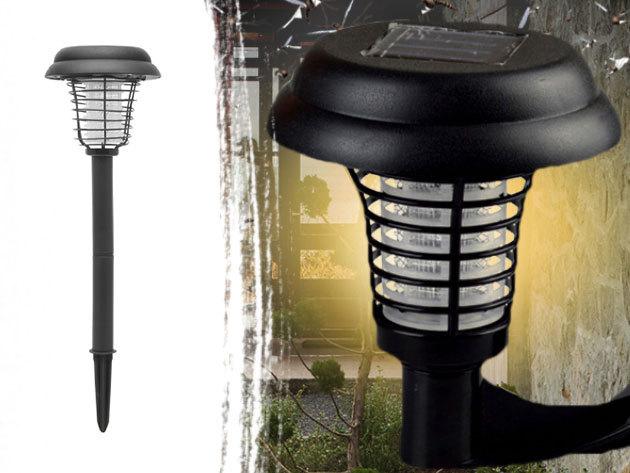 Napelemes rovarcsapdák - fényük odacsalogatja a rovarokat, majd elpusztulnak miután hozzáérnek